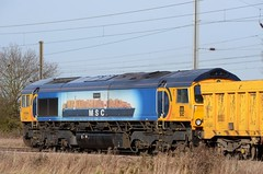 66709 bb Marholm 060219 D Wetherall (MrDeltic15) Tags: eastcoastmainline gbrailfreight class66 66709 marholm ecml