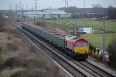 66117 aa Marholm 060219 D Wetherall (MrDeltic15) Tags: eastcoastmainline dbcargo class66 66117 marholm ecml