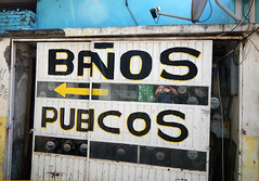 Banos Publicos  in Tecoman, Mexico (albatz) Tags: tecoman mexico banospublicos washrooms sign