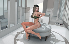 Remove your clothes... (Octilla Resident) Tags: secondlife virtual girl woman female virtualgirl maitreya lelutka backdrop stealthic glamaffair