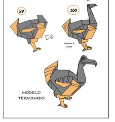 Diagramas del Dodo (mrmicawer) Tags: papiroflexia origami papel dodo ave pajaro bird mauricio extinguido