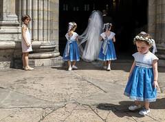 sulky ... (kimtoumia) Tags: child candid streetphotography color wedding france lyon