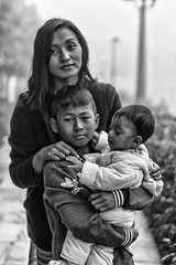 The Family (arindam.mojumder) Tags: street child frame blackwhite monochrome lady arindam