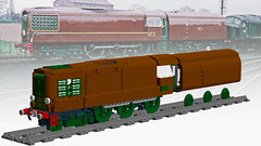 WIP BR GT3 (Britishbricks) Tags: lego br gt3 gas turbine train engine loco custom moc wip brown britishbricks