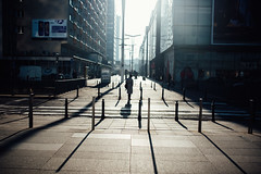 Pillars (ewitsoe) Tags: mood street warszawa winter erikwitsoe poland urban warsaw cinematic light shadows people citylife moment everyday being streetscene cinema buildings singleperson