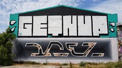GetnUp & Drez... (colourourcity) Tags: theboneyard boneyard melbourne burncity colourourcitymelbourne streetartnow streetartaustralia colourourcity nofilters streetart drez getnup graffiti
