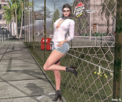 New styling 604 (bettyfl) Tags: betty bettyfl summer night plazza piata square chilly boots legs girl skin fashionista fashionlover fashion model modeling poser pose posing femme milf woman beauty sexy sensual elegant chic opensim hypergrid os hg