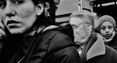 Close quarter combat!! (Baz 120) Tags: candid candidstreet candidportrait city contrast street streetphoto streetcandid streetportrait strangers rome roma ricohgrii europe women monochrome monotone mono noiretblanc bw blackandwhite urban life portrait people provoke italy italia grittystreetphotography faces decisivemoment