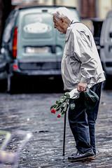 Street (sladkij11) Tags: d610 nikkoraf180mmf28 flowers fiori oldpeople passante streetfotofirenze cappello