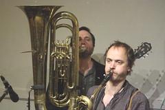 Frog & Henry (2020) 16 - Dave Neigh (KM's Live Music shots) Tags: jazz ragtime unitedstates neworleans canada froghenry daveneigh deeringbanjo 6stringbanjo banjo tuba winningposttwickenham