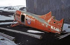 Wrecked De Havilland plane at Deception Island (E P Rogers) Tags: hertage aircraft deceptionisland whalersbay antarctica survey base