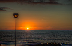 Electric Lights Come on As God's Light Goes Out (Michael F. Nyiri) Tags: hollywoodriviera torrancebeach torrance southerncalifornia sunset pacificocean