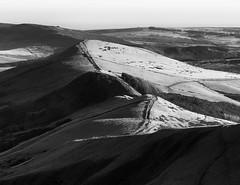 The Great Ridge (l4ts) Tags: landscape derbyshire peakdistrict darkpeak edale thegreatridge hollinscross barkerbank backtor losehill blackwhite monochrome