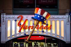 Yankees (Thomas Hawk) Tags: america manhattan nyc newyork newyorkcity timessquare usa unitedstates unitedstatesofamerica yankees baseball neon neonsign fav10 fav25