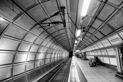 T1 Tunnel (Street Snaps) Tags: blacknwhite blackwhite station tunnel platform