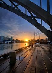 January sunrise, Norway (Vest der ute) Tags: xt2 norway rogaland haugesund sunrise bridge quay fav25