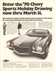 1970 Chevrolet Camaro Advertisement Life Magazine March 6 1970 (SenseiAlan) Tags: 1970 chevrolet camaro advertisement life magazine march 6