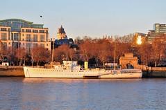 H.Q.S. Waterloo (standhisround) Tags: boats thames victoriaembankment london ship exwarship hqswellington river riverthames stuffonships reflection sunshine