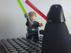 LEGO The Skywalker Saga Diorama (LudoAis) Tags: lego star wars obiwan kenobi anakin luke skywalker darth vader rey kylo ren mustafar death starkiller base