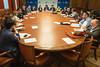 Reunión de diputados del PP con los sindicatos de la UGT y CC.OO. acerca del expediente de extinción de empleo de la empresa Alcoa, presentado para las plantas de Avilés y A Coruña. (22/01/2020)
