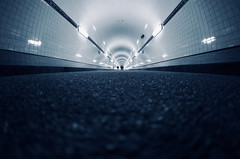 Alter Elbtunnel Hamburg III (kuestenkind) Tags: hamburg elbtunnel alterelbtunnel weitwinkel fisheye canon 6d norddeutschland northgermany blue
