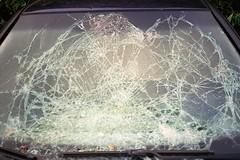 Dang ! (michel nguie) Tags: window michelnguie accident car parebrise rbx roubaix analog film ifyouleave filmisnotdead argentique grainisgood shootfilmmag somewheremagazine