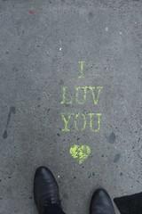 IMG_0162 (Mud Boy) Tags: nyc newyork iluvyou ground sidewalk graffiti streetart brooklyn downtownbrooklyn boerumhill