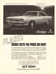 1970 Dodge Dart Swinger Advertisement Life Magazine March 6 1970 (SenseiAlan) Tags: 1970 dodge dart swinger advertisement life magazine march 6