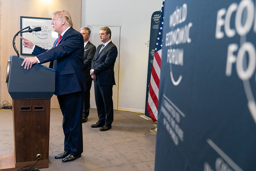 President Trump at Davos by The White House, on Flickr