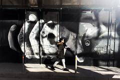 Handy (kpikoulas) Tags: art street graffiti visualarts shadow pedestrian iphonephotography streetart