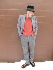 1-22-2020 Today's Clothes (Michael A2012) Tags: this mans winter style vintage fashion hut spanke german velour hat fedora old navy hyde park wool lambswool lands end cotton boiled flight boots