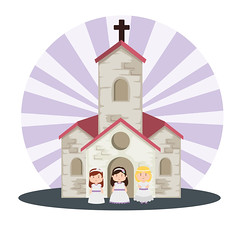 First Communion For Girls (Celebrateit2k19) Tags: first communion event traditional vector illustration church girls dress hairstyle cross card christianity religion christening catholic invitation holy design icon reminder crucifix symbolic ritual religious dove belief celestial christian bird sacramento decoration cup easter greeting holygrail congratulations eucharist bible doves