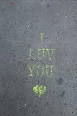 IMG_0161 (Mud Boy) Tags: nyc newyork iluvyou ground sidewalk graffiti streetart brooklyn downtownbrooklyn boerumhill
