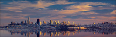 The City by the Bay at Sunset (PrevailingConditions) Tags: sanfrancisco sunset bayarea bay clouds sky landscape cityscape panorama pano