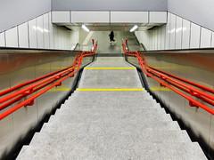 Underground Geometry (CoolMcFlash) Tags: subway station symmetry vienna person candid fujifilm stairs ubahn symmetrie wien stufen treppe fotografie photography underground city stadt urban street geometry geometrie wienerlinien x30 streetphotography architecture architektur