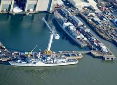 RX301621 (Andy Amor) Tags: warships dock babcock hmnb dockyard cranes water sea