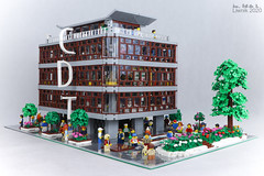 Department store (Liwnik) Tags: warsaw warszawa lego legomoc legocity legocreation legoarchitecture cdt smyk modular moc afol