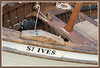 Uk, Cornwall, St. Ives, harbour, lugger-detail1