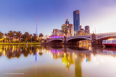 Princess Bridge (ericmontalban) Tags: melbourne australia princess bridge bridges sunset dusk