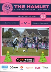 Dulwich Hamlet v Havant & Waterlooville (Havant & Waterlooville) Tags: havant waterlooville dulwich hamlet national league south football programme