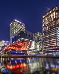 The Big Easy (sarah_presh) Tags: london canarywharf bigeasy skyscraper architecture night nightphotography longexposure outdoor city nikond850 nikon1635mm illuminated