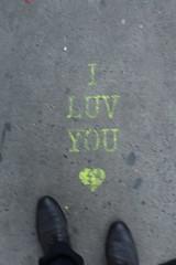IMG_0163 (Mud Boy) Tags: nyc newyork iluvyou ground sidewalk graffiti streetart brooklyn downtownbrooklyn boerumhill
