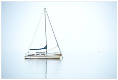 Misty Winter Day (robert.avery123) Tags: boat sea estuary thames misty buoy yacht calm
