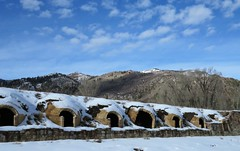 The Redstone Coke Ovens (Patricia Henschen) Tags: redstone colorado cokeoven historicdistrict nationalhistoricdistrict winter snow clouds mountain mountains westelk loop scenicbyway nationalforest whiteriver