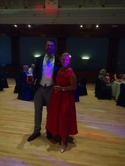 IMG_20190928_215603565 (griffpops_deptford) Tags: wedding reception dancing reading formalattire ladyinred menwithbeards