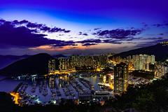 Sunset (danieltamkl) Tags: sony a7 a73 a7iii asia hongkong hk hong kong travel landscape sunset blue sea city cityscape sky colour 1635gm sel1635gm gm photo building boat ship ngc