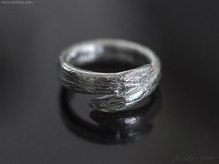 Karya - Tree bark textured open ring band. Hand carved Sterling silver twig ring. Handmade unique rings by Arctida. (Arctida) Tags: jewelry jewellery ring wide band sterling silver metal engagement textured pattern nature branch twig wood grain tree bark wiccan pagan statement bohemian boho chic wedding shop accessory accessories simple viking ancient line modern fall autumn summer spring winter trend time day artwork artisan designer city europe handmade handcrafted party scandinavian sweden new age entwined elven elvish fantasy woodland organic custom rustic piece everyday apparel wear shine high fashion guide shopping luxury mono promise decoration cold