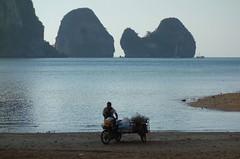 Krabi, Thailand. (denismartin) Tags: denismartin tonsaibay krabi thailand beach geology rocks sea seashore seaside