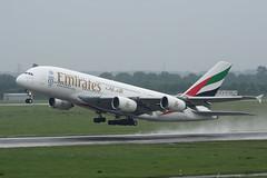 A6-EOW Airbus A380-861 EDDL 19-05-17 (MarkP51) Tags: a6eow airbus a380861 a380 emiratesairlines ek uae dusseldorf airport northrhinewestphalia germany dus eddl airliner aircraft airplane plane image markp51 nikon d7200 rain raining spray