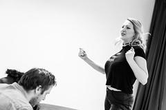 Venus In Fur _ Rehearsal Photography (SteMurray) Tags: review rough magic seeds black white photos phorotgarphy rehearsals thetarer david ives showcase peter conn sarah morris olivia songer